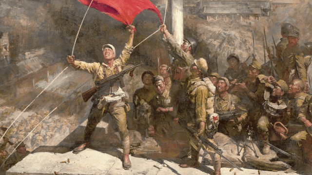 PLA troops capture the city of Nanjing