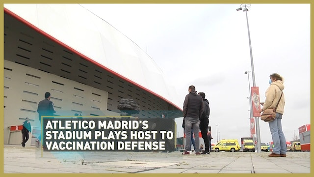 Atletico Madrid's football stadium turns into mass-vaccination center