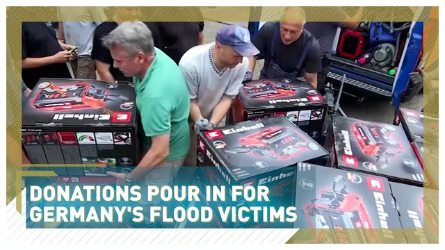Donations pour in for Germany's flood victims