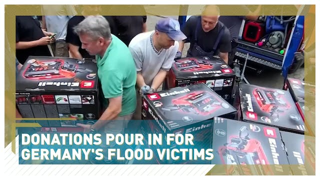 Donations pour in for Germany's flood...