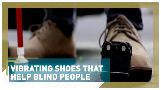 Vibrating shoes that help blind people