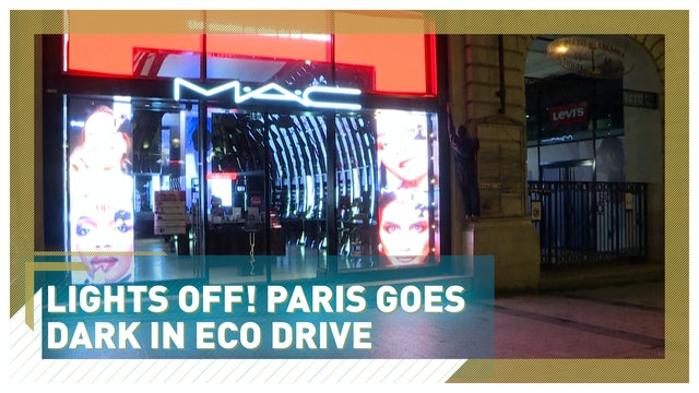 Lights off! Paris goes dark in eco drive