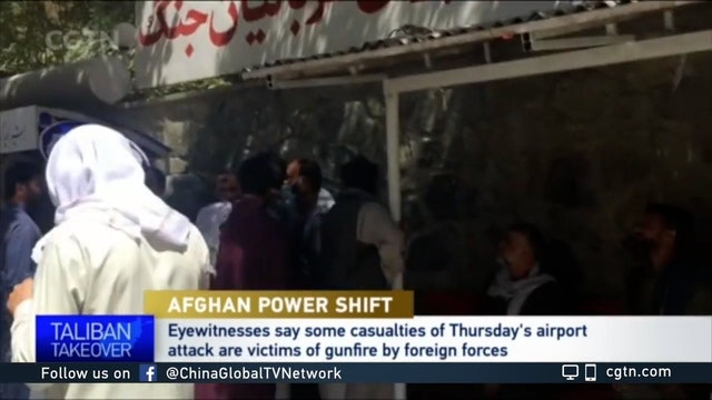 Some also died from gunshots during Kabul airport attack: Eyewitnesses