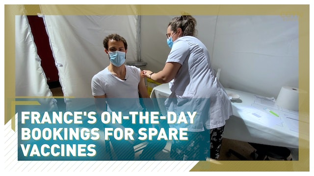 France's on-the-day bookings for spare vaccines