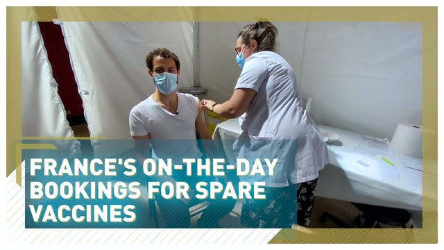 France's on-the-day bookings for spar...