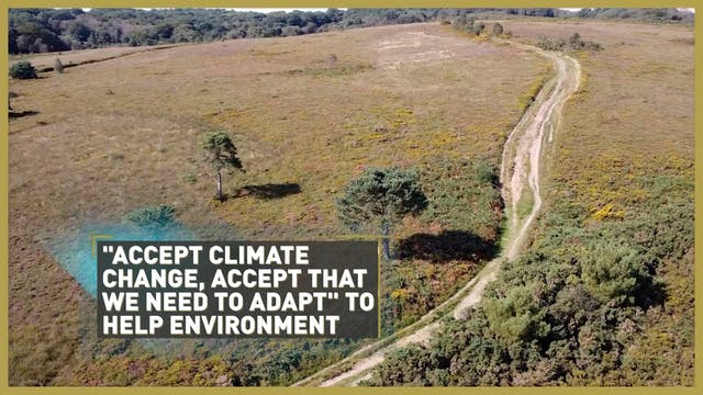Accept climate change, accept need to...