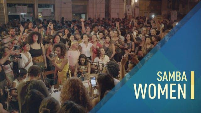 An all-female Samba group shows a com...