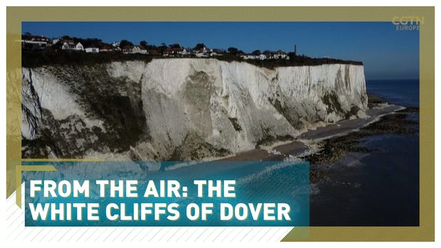 From the air: The White Cliffs of Dover