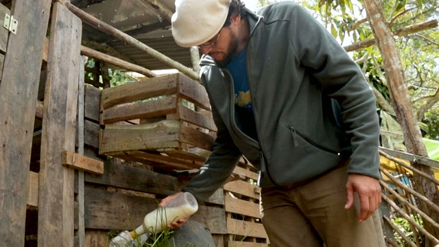Venezuelan professional turns to farming to support family