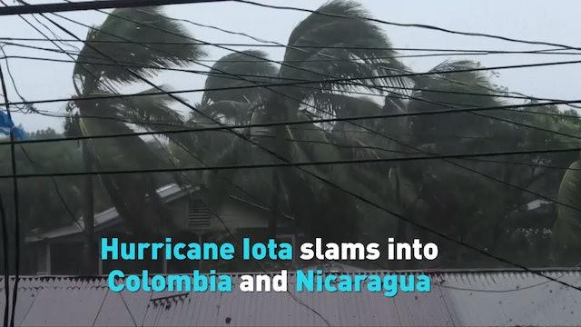 Hurricane Iota slams into Colombia and Nicaragua