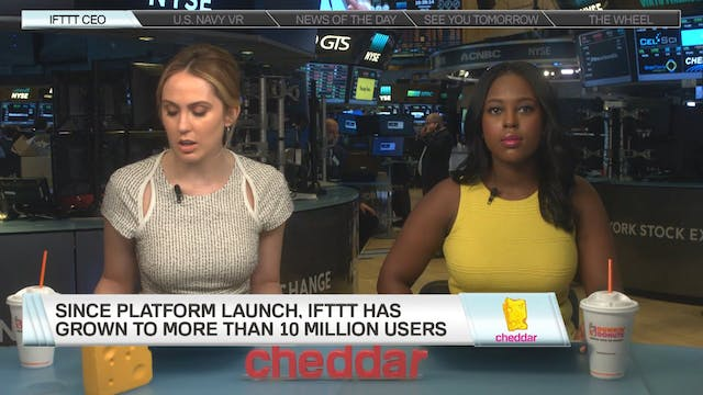 IFTTT joins Cheddar to speak about it...