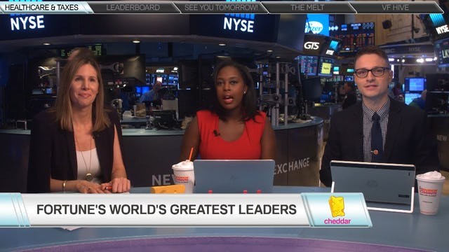Leigh Gallagher Reveals Fortune's 2017 World's Greatest Leaders list
