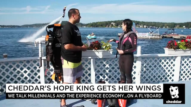 Hope King Gets Her Wings on a Flyboard