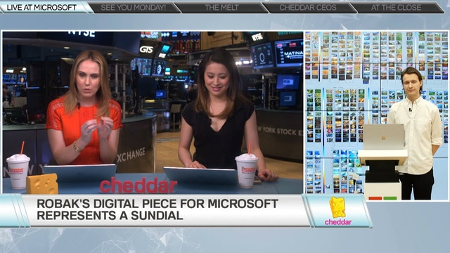 Tabor Robak Shows Cheddar Microsoft's...