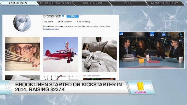 Brooklinen co-founders Vicki and Rich...