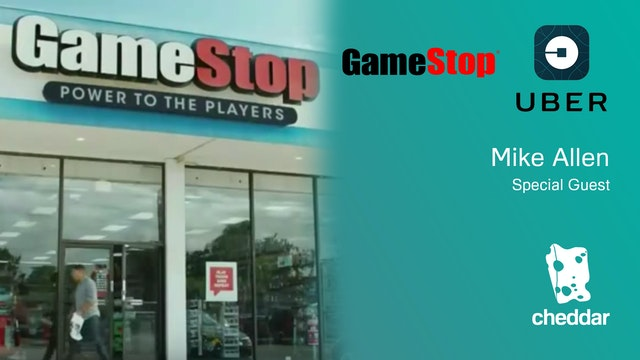 Gamestop Shares Dip, Uber's Big Loss