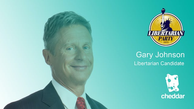 Gary Johnson's four key positions ahead of the election
