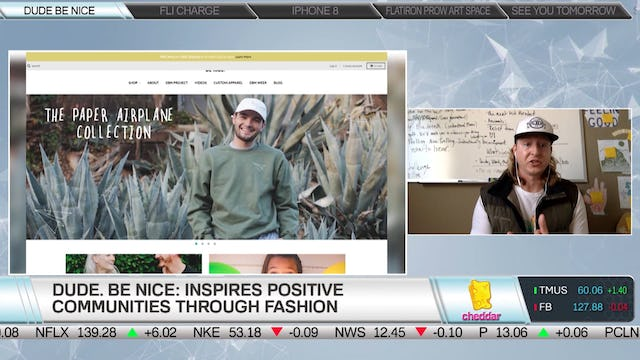 Brent Camalich, Founder & CEO, Dude. Be Nice joins Cheddar to discuss DBN project