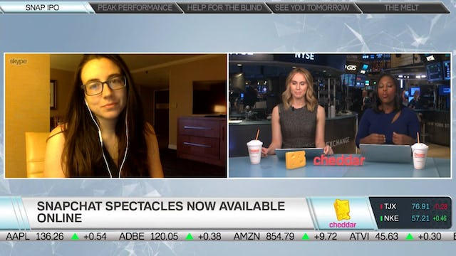 Mashable's Kerry Flynn on Why Snap Is Now Selling Spectacles Online