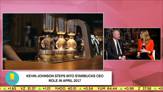 Starbucks President Kevin Johnson Talks About Expansion and New Technology