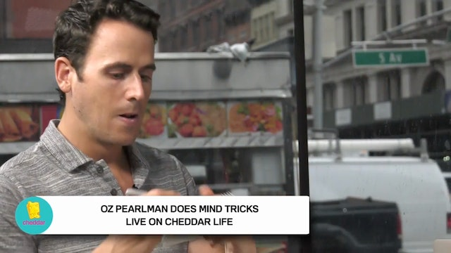 Oz Pearlman amazes the CheddarLife te...