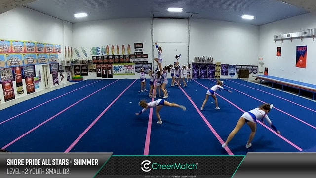 ENCORE Match-Shore Pride All Stars-SHIMMER-2 Youth Small D2