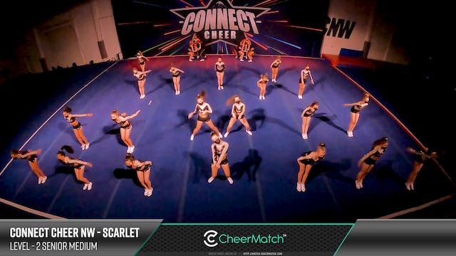 ENCORE Match-Connect Cheer NW-Scarlet...
