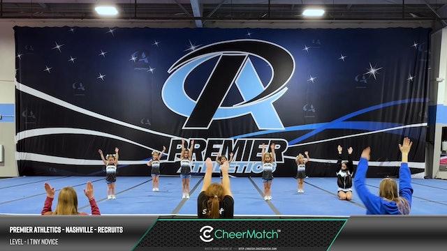 Premier Athletics - Nashville - Recruits - L1 Tiny Novice