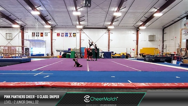 ENCORE Match-Pink Panthers Cheer-S Class- Sniper-2 Junior Small D2