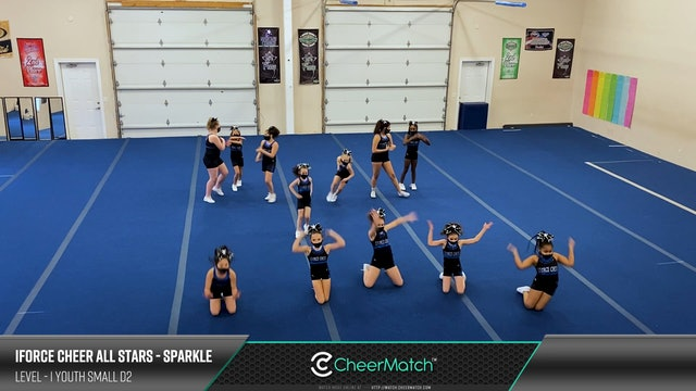 ENCORE Match-iForce Cheer All Stars-Sparkle-1 Youth Small D2-06-26-03
