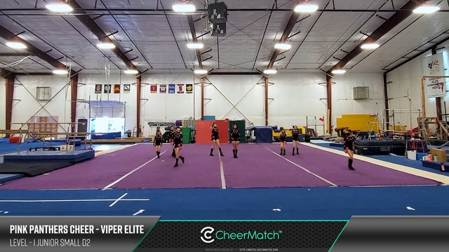 ENCORE Match-Pink Panthers Cheer-Viper Elite-1 Junior Small D2