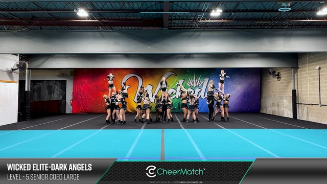 ENCORE Match-Wicked Elite-DARK ANGELS-5 Senior Coed Large-09-12-45