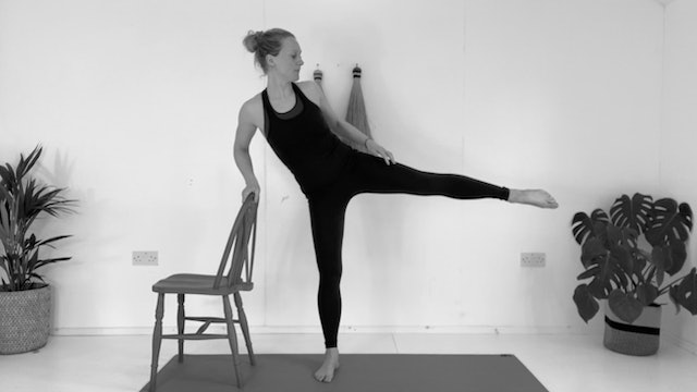 PILATES BARRE WITH A CHAIR