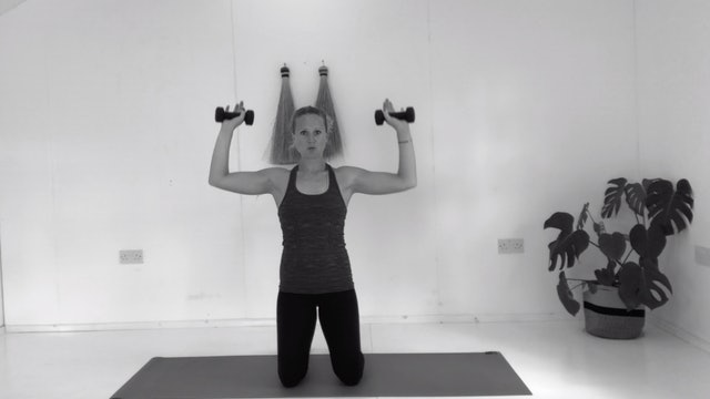 SHOULDERS WITH WEIGHTS