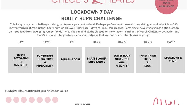 7 DAY BOOTY BURN CHALLENGE