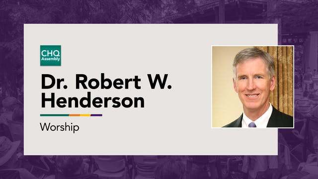 Dr. Robert W. Henderson - Wednesday
