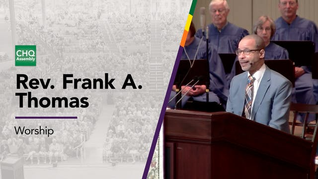 Rev. Frank A. Thomas - Tuesday