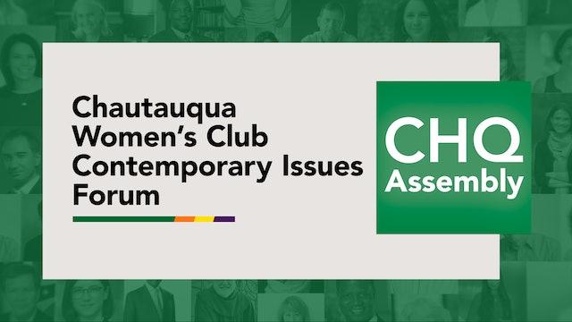 Chautauqua Women's Club Contemporary Issues Forum
