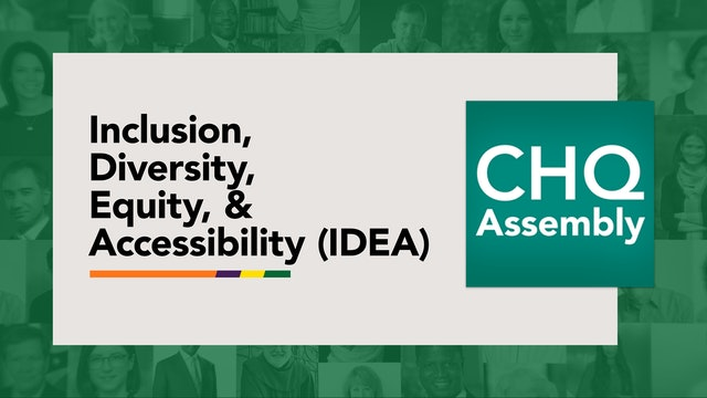 Inclusion, Diversity, Equity, and Accessibility (IDEA)