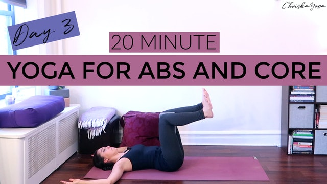 Day 3 - Abs and Core