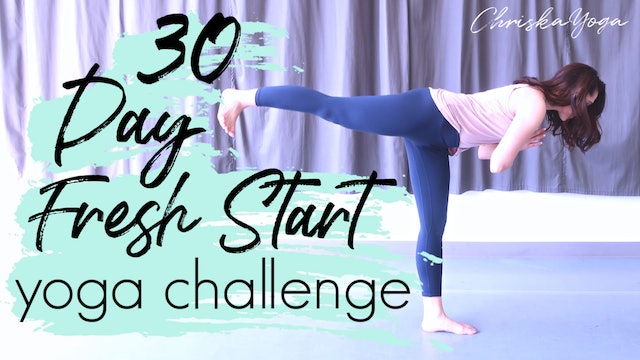 30 Day Fresh Start Yoga Challenge