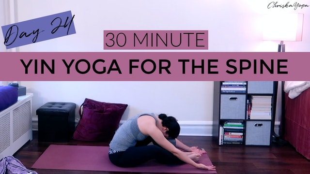 Day 24 - Yin Yoga for Spine