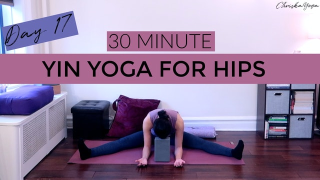 Day 17 - Yin Yoga for Hips