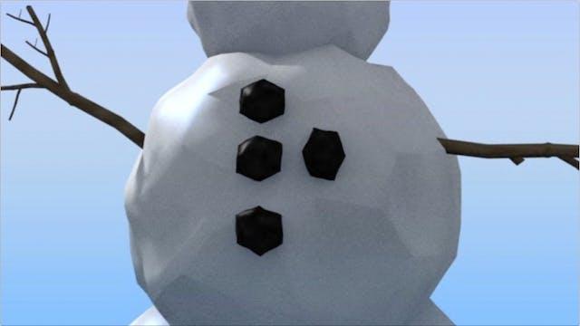 Subitize Exercises lvl 3 Snowman - SD