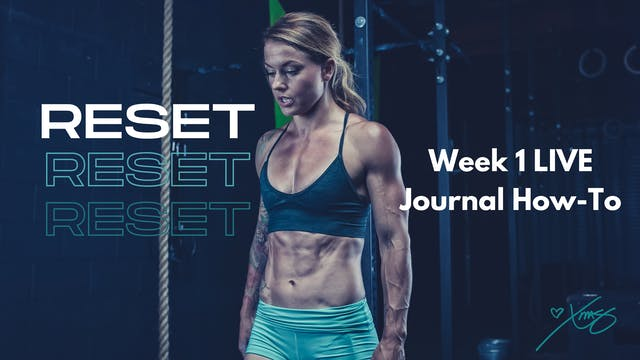 Week 1 LIVE- Journal How-To