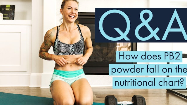 How does PB2 powder fall on the nutritional chart?