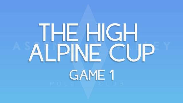 The High Alpine Cup