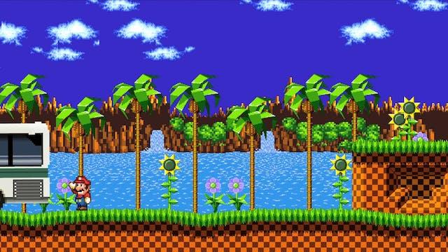 Mario vs. Green Hill Zone