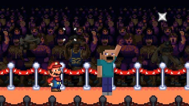 Mario vs. Minecraft