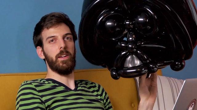 Balloon Animal Challenge: Darth Vader on the Toilet